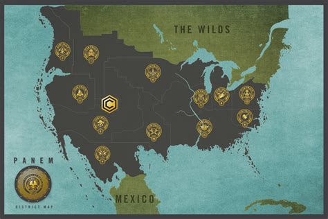 hunger games map themes hunger games panem district map the map infographic wall