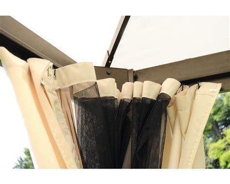 pavillon 3x4 mit seitenteilen seitenteile und moskitonetze pavillon figaro 3x4m braun