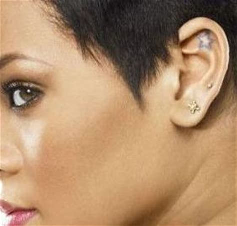 tattoo behind rihanna s ear rihanna s tattoos an overview temporary tattoo blog