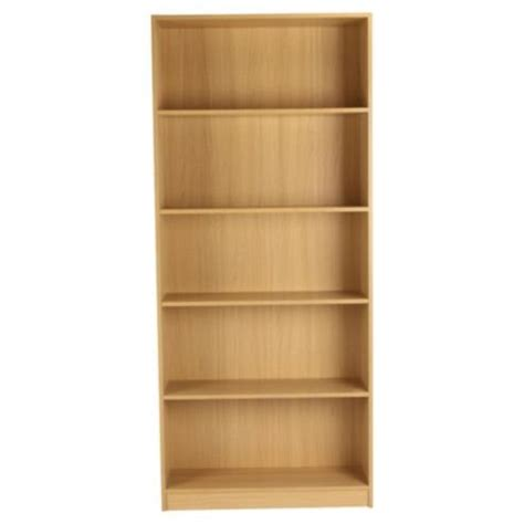 22 Wide Bookcase Fraser 5 Shelf Wide Bookcase Oak Effect 163 29 95 Or 163 22