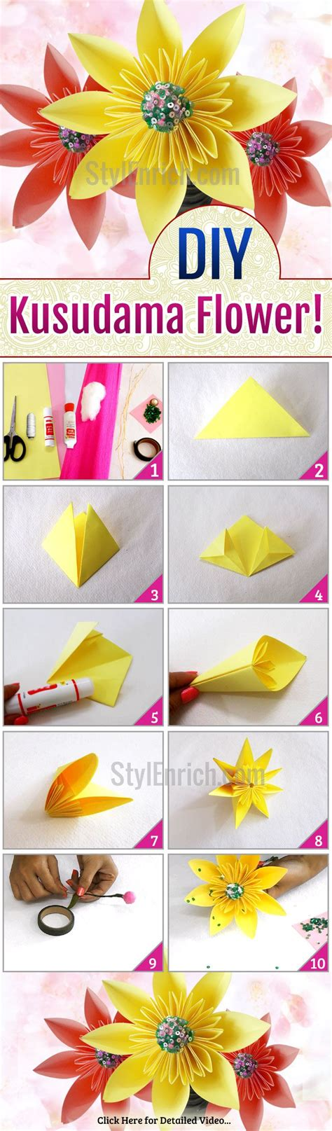 How To Make Paper At Home Easy - 17 best ideas about easy paper flowers on