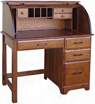 42 Quot Mission Single Pedestal Rolltop Desk Writing Desks Small Roll Top Computer Desk
