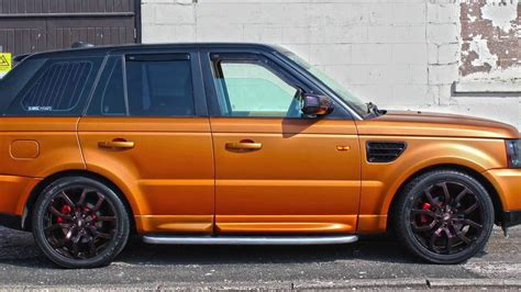 matte orange range rover range rover sport wrap