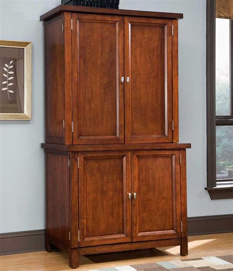 home office computer armoire home styles arts and crafts compact computer armoire with hutch black