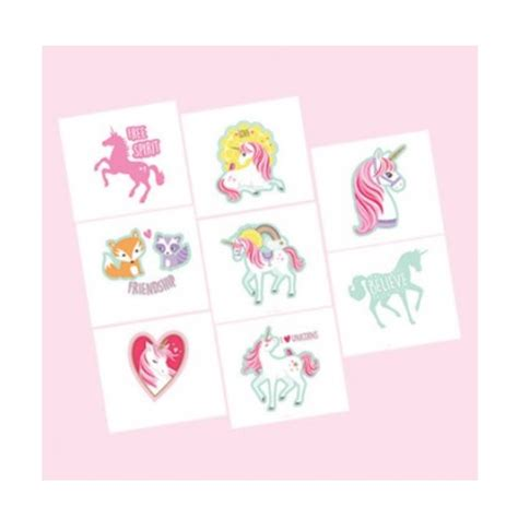 tattoo kit afterpay magical unicorn tattoo favors x 8 kids themed party