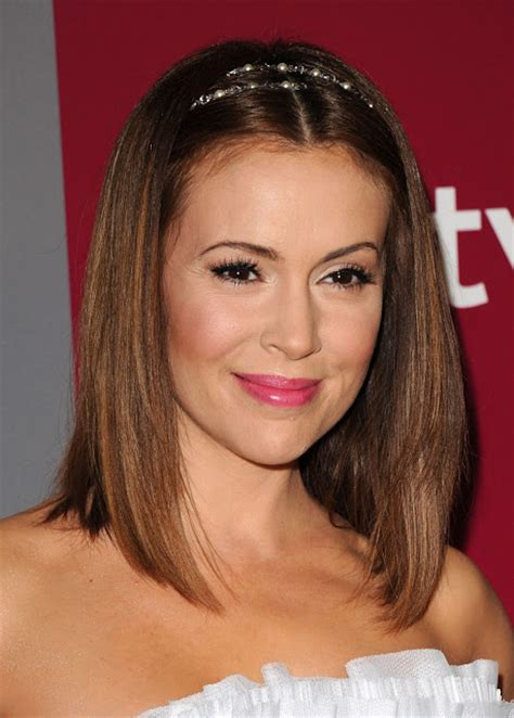 millisa milanos hair alyssa milano medium straight cut hairstyles 2013
