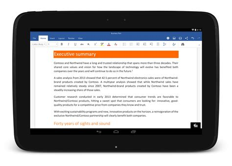microsoft office for android tablet microsoft releases word excel and powerpoint for android