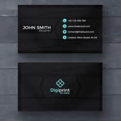 Free Business Cards Template Dark Business Card Template Psd File Free Download