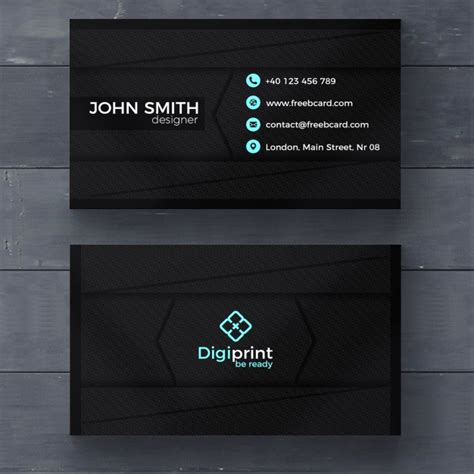 black business cards templates psd business card template psd file free