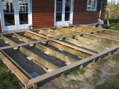 veranda unterkonstruktion konstruktion og opbygning af terrasse i robinie tr send