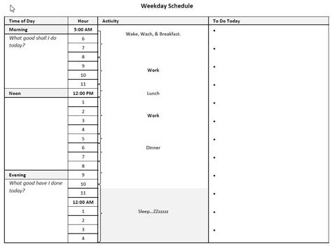 Adapting Ben Franklin S Daily Schedule To Your Life Wolf Iron Franklin Daily Planner Template