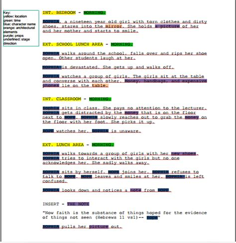 script breakdown template breakdown template word images