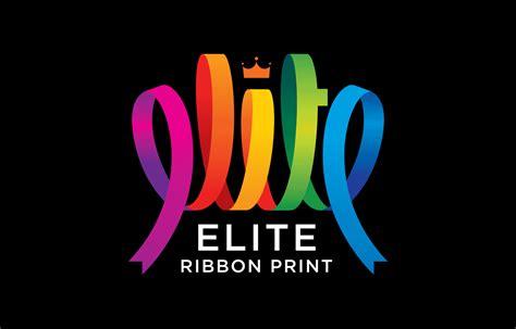 best design best print logo design elite ribbon printers logo