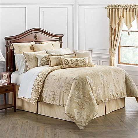 bed bath and beyond waterford waterford 174 linens copeland reversible comforter set in