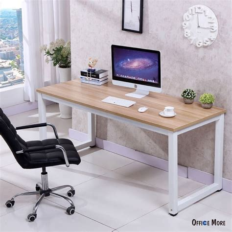 wooden home office desk computer desk pc laptop table wood workstation study home