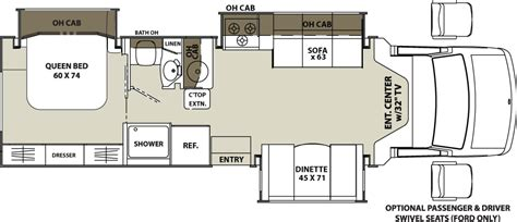 coachmen class c motorhome floor plans concord 300ts class c motorhomes by coachmen rv