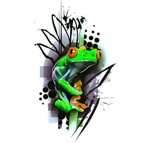 tree frog tattoo design