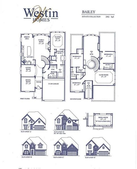 cool westin homes floor plans new home plans design