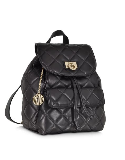 Quilted Backpacks For by Dkny Gansevoort Quilted Nappa Leather Backpack In Lyst