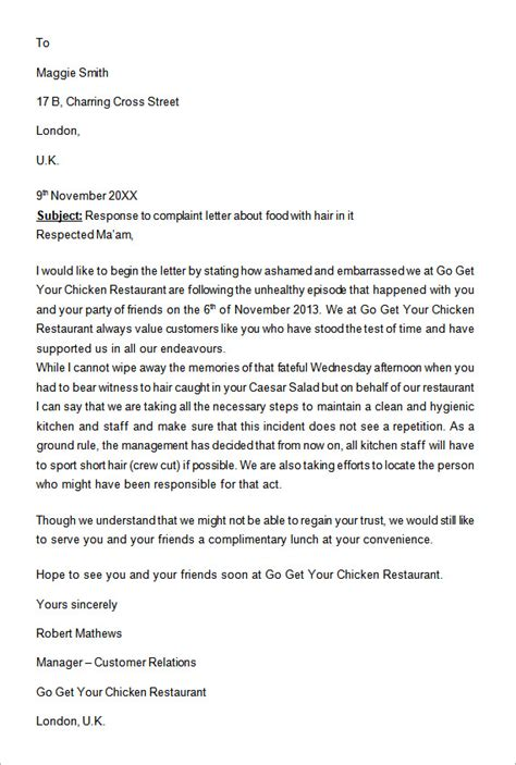 business response letter template