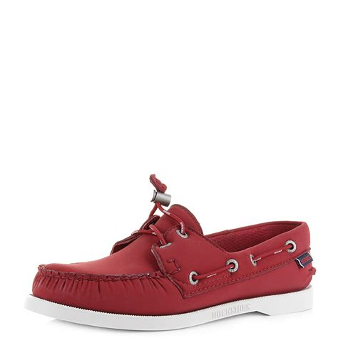 red boat shoes womens womens sebago docksides ariaprene red comfort boat shoes