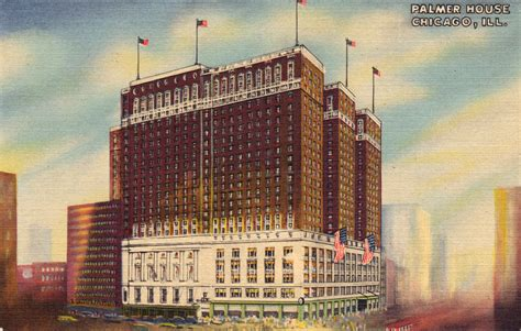 the palmer house hilton palmer house chicago postcard roundup