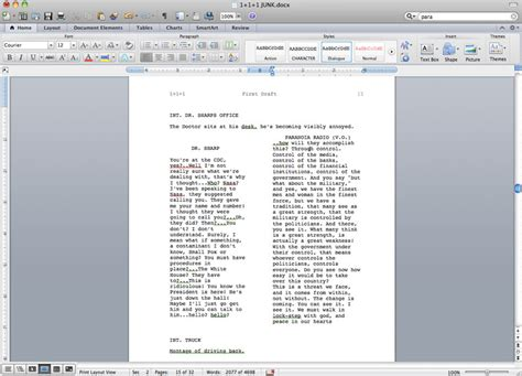 two column template word notes on screenwriting 201 diary of an unproduced
