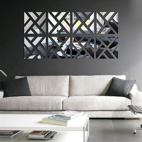 Large Home Decor by 3d Wall Stickers Mirror Acrylic Adesivo De Parede Home