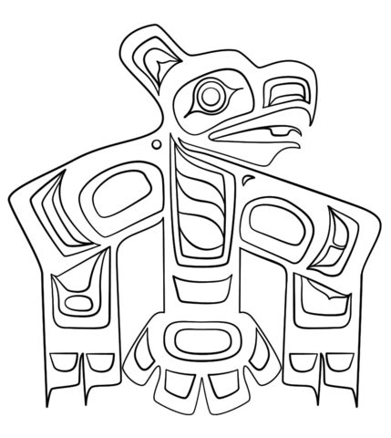 northwest indian coloring pages haida art raven coloring page free printable coloring