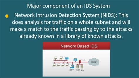 pattern matching algorithm for intrusion detection system intrusion detection system ids at a glance ppt