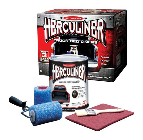 Roll On Bed Liner by Herculiner Diy Truck Bed Liner Roll On Kit Hcl0b8 Ebay