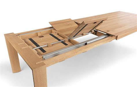 Extendable Table Mechanism | oakville basel extending dining table tr hayes
