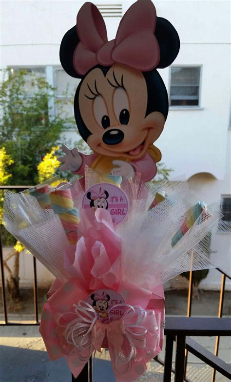 baby minnie mouse centerpiece with marshmallows birthday