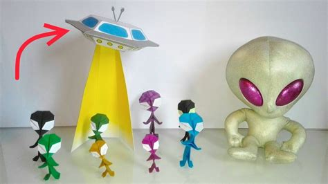 How To Make A Flying Saucer Out Of Paper - diy a flying saucer in papercraft a paper u f o