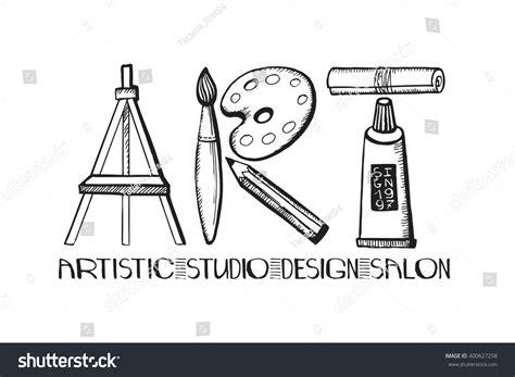 pattern art word art lettering salondesign studio logoposter templatevector