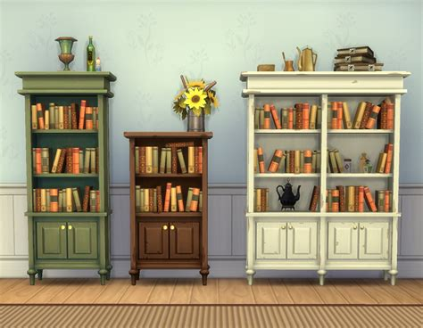 mod the sims caress bookcases