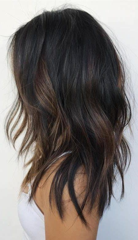 partial red highlights on dark brown hair partial balayage highlights to blow minds in 2018 best