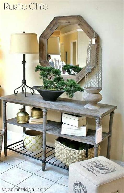 side table decor home decor foyer decorating rustic