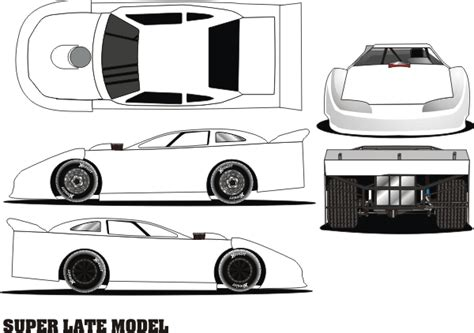 free coloring pages of dirt track cars