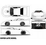 Late Model Online Colouring Pages