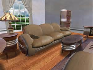 art deco living room furniture second life marketplace art deco 15 piece livingroom