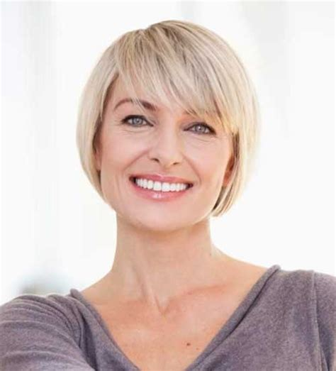 short haircuts with bangs for over 50 bob hairstyles stacked bob hairstyles and stacked bobs on
