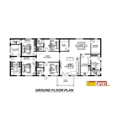 gharexpert house design house plan for 74 feet by 31 feet plot plot size 255