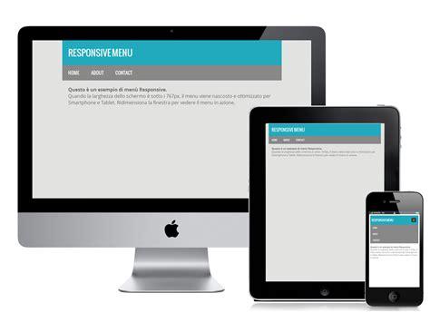 responsive header design exles come realizzare un menu responsive marchetti design
