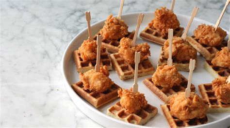 Southern Comfort Appetizers by Mini Chicken And Waffles Recipes Purewow