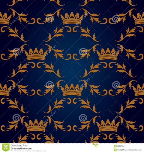 king pattern vector seamless vector gold pattern with king crowns cartoon