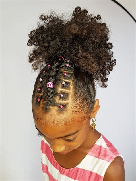 cute natural styles with colorful rubberbands cute easy black little girl hairstyles ponytails amazing hair for
