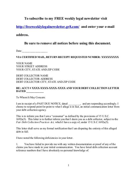 Mortgage Debt Validation Letter Template debt validation letter template 28 images 89 reader