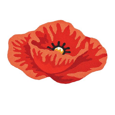 poppy flower rug poppy hooked rug supplies throws rugs pillows home decor trading