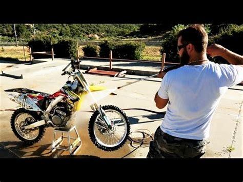 wash  dirt bike suzuki rmz  youtube